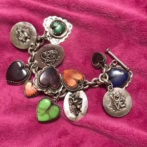 Jewelry - Santa Fe original sterling silver Story Bracelet.